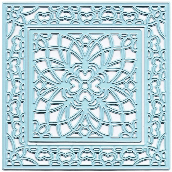Joy! Crafts Cut & Emboss Dies-Flower Square, 2.75in Inner & 4in Outer