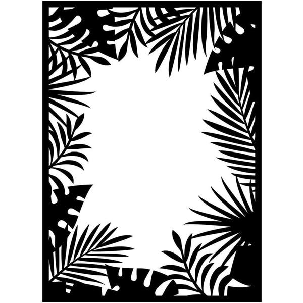 Embossing Folder 4.25inX5.75in-Jungle Border
