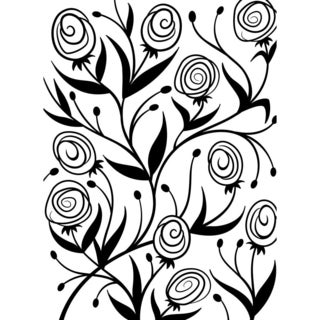 Embossing Folder 4.25inX5.75in-Ranunculus