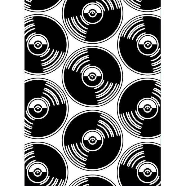 Embossing Folder 4.25inX5.75in-Records