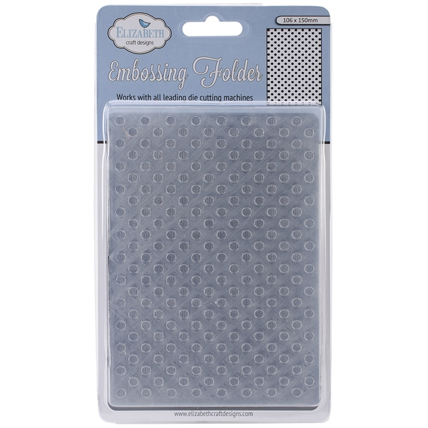 Elizabeth Craft Embossing Folder 4inX6in-Lots Of Dots