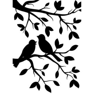 Embossing Folder 4.25inX5.75in-Birds Branch