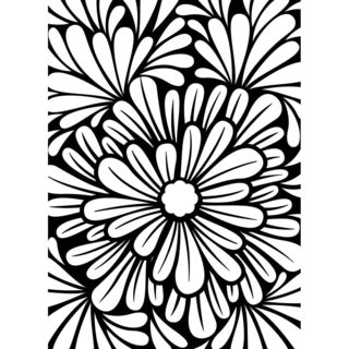 Embossing Folder 4.25inX5.75in-Bold Floral