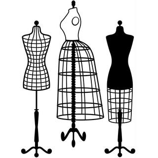 Embossing Folder 4.25inX5.75in-Dress Form Large