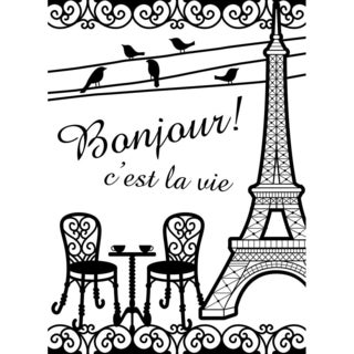 Embossing Folder 4.25inX5.75in-French Bistro