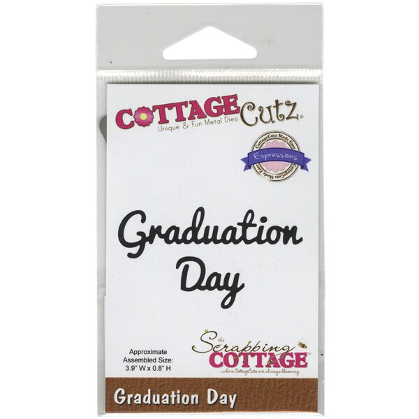 CottageCutz Expressions Die 3.9inX.8in-Graduation Day