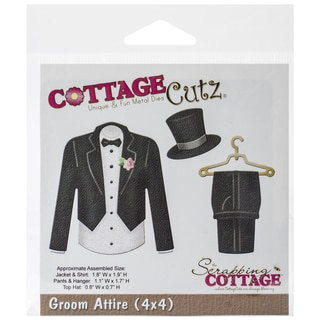 CottageCutz Die 4inX4in-Groom Attire