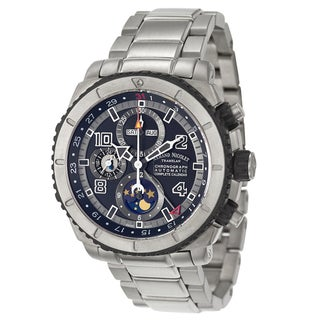 Armand Nicolet Men's 'S05 Chronograph & Complete Calender' Titanium Chronograph, Moon Phase Watch