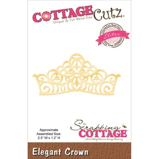 CottageCutz Elites Die 2.5inX1.2in-Elegant Crown