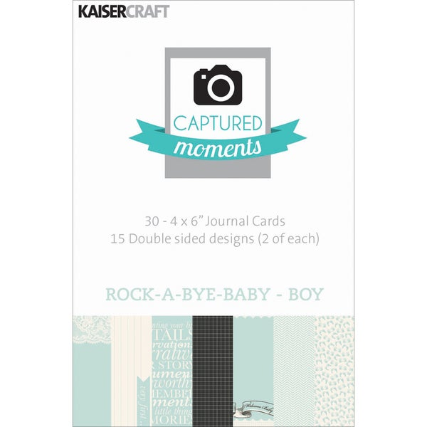 Captured Moments Double-Sided Cards 6inX4in 30/Pkg-Rock-A-Bye Baby Boy