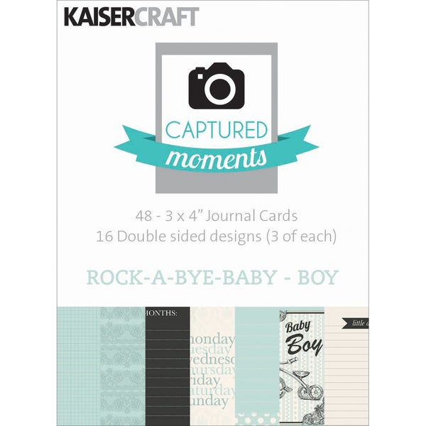 Captured Moments Double-Sided Cards 3inX4in 48/Pkg-Rock-A-Bye Baby Boy