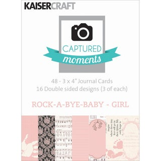 Captured Moments Double-Sided Cards 3inX4in 48/Pkg-Rock-A-Bye Baby Girl