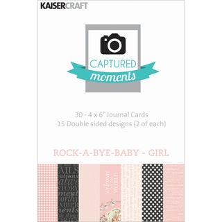Captured Moments Double-Sided Cards 6inX4in 30/Pkg-Rock-A-Bye Baby Girl