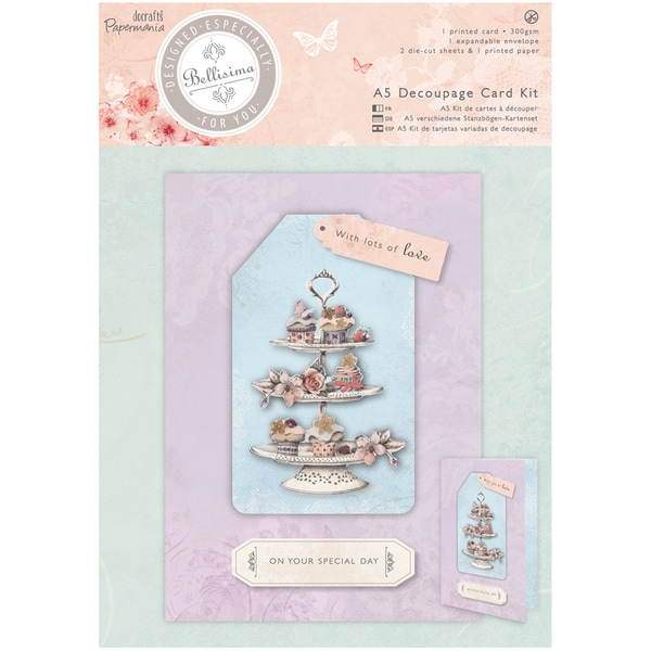 Papermania Bellisima Card Kit A5-Decoupage Cupcakes
