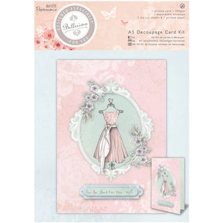 Papermania Bellisima Card Kit A5-Decoupage Dress