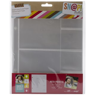 Sn@p! Insta Pocket Pages For 6inX8in Binders 10/Pkg-(2) 4inX4in & (4) 2inX2in Pockets