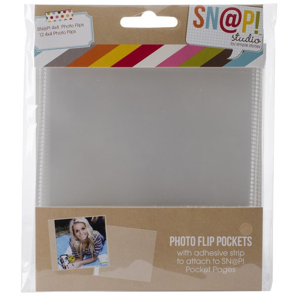 Sn@p! Photo Flips For 6inX8in Binders 12/Pkg-4inX4in