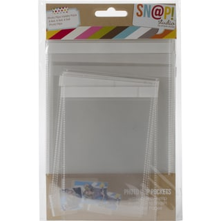 Sn@p! Photo Flips For 6inX8in Binders 12/Pkg-Variety - 4 Each Of 4inX6in, 4inX4in & 3inX4in