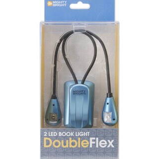 Mighty Bright DoubleFlex Two LED Book Light-Blue