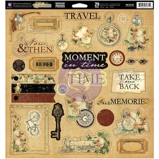 Time Traveler Self-Adhesive Chipboard 12inX12in