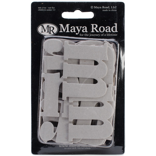 Chipboard Set 60/Pkg-Matthew Lowercase Alphabet Up To 1.5inX3in