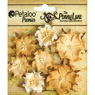 Penny Lane Mini Wild Roses 7/Pkg-Antique Gold