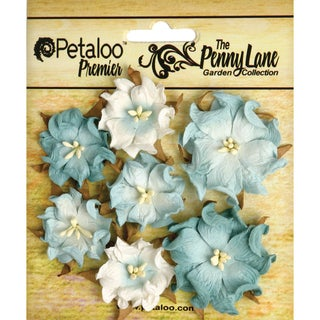 Penny Lane Mini Wild Roses 7/Pkg-Robin's Egg Blue