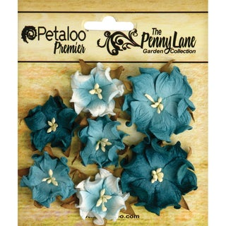 Penny Lane Mini Wild Roses 7/Pkg-Teal