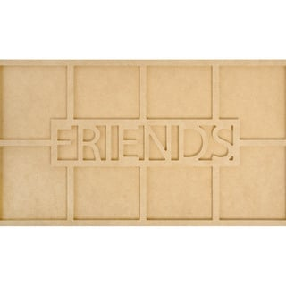 Beyond The Page MDF Friends Word Frame W/8 Openings-19.75inX7.75inX.5in