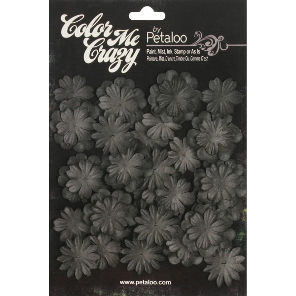 Color Me Crazy Flower Layers 28/Pkg-Chalkboard Mini Delphiniums