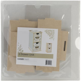 Beyond the Page MDF 2 Drawer Unit-4.5inX4.75inX8.25in