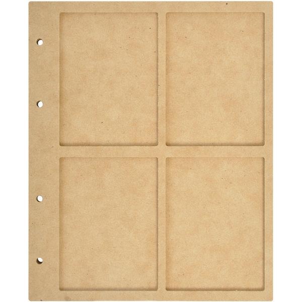 Beyond The Page MDF 4 Window Display Album W/10 Pockets-6.75inX8.5inX.5in