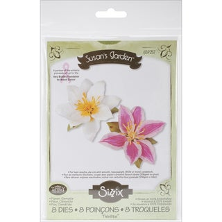 Sizzix Thinlits Dies 8/Pkg-Clematic Flower