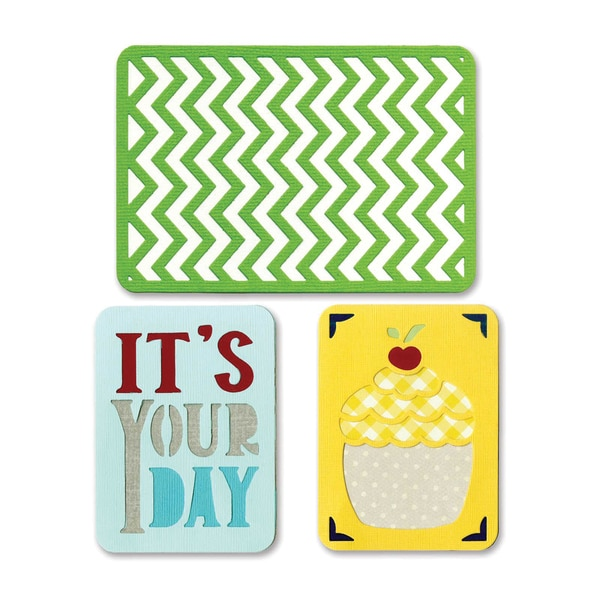 Sizzix Thinlits Dies 3/Pkg-Birthday #2