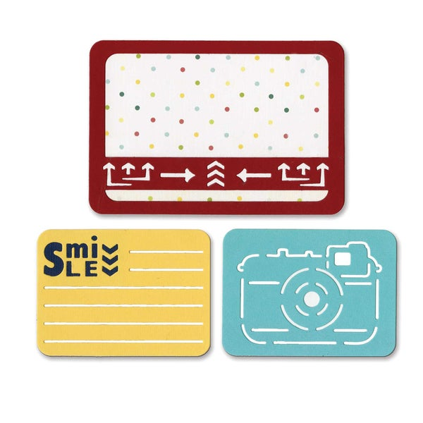 Sizzix Thinlits Dies 3/Pkg-Smile For The Camera