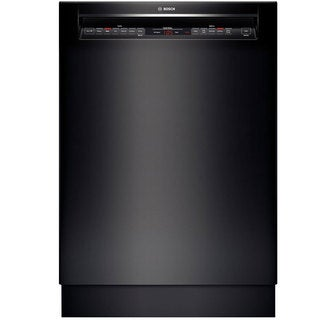 Bosch 800 Series Built-in Black Full Console Dishwasher