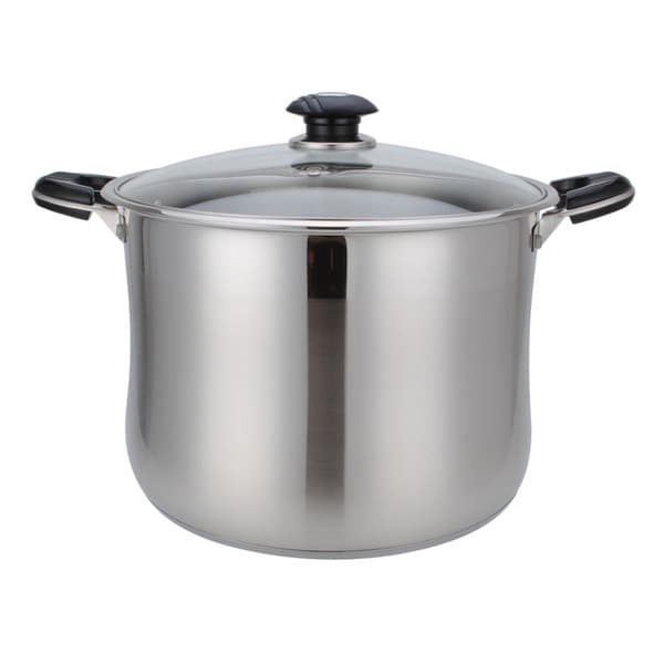Alpine Cuisine 14-quart Stainless Steel Stock Pot