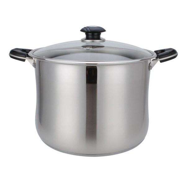 Alpine Cuisine Stainless Steel 11-quart High Pot
