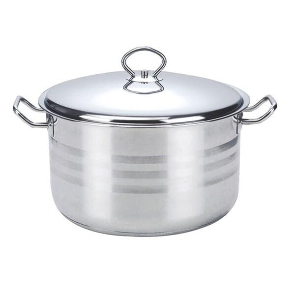 Alpine Cuisine Stainless Steel 11-quart Dutch Oven