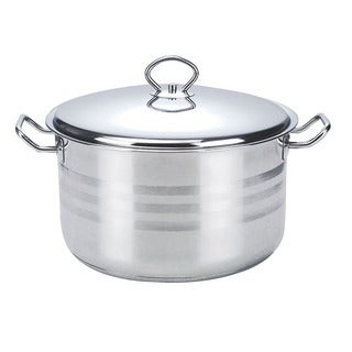Alpine Cuisine Stainless Steel 11-quart Dutch Oven