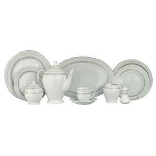 Alpine cuisine white 49 piece dinner set for Alpine cuisine glass bowl set