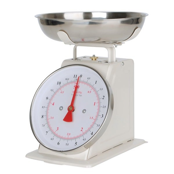 Alpine Cuisine White Stainless Steel Kitchen Scale
