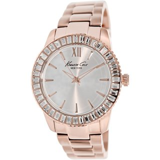 Kenneth Cole Women's KC4991 Rose-Goldtone Stainless Steel Quartz Watch with Silvertone Dial