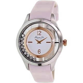 Kenneth Cole Women's KC2859 Pink Leather Quartz Watch with White Dial