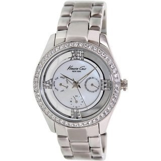 Kenneth Cole Women's KC4923 Silvertone Stainless Steel Quartz Watch with Mother-Of-Pearl Dial