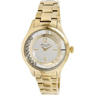 Kenneth Cole Women's KC4942 Goldtone Stainless Steel Quartz Watch with Silvertone Dial