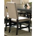 Greyson Living Loraine Beige Linen Nail-head Trim Side Chairs (Set of 2)