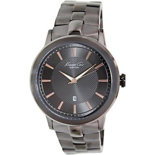 Kenneth Cole Men's KC9338 Grey Stainless Steel Quartz Watch with Grey Dial