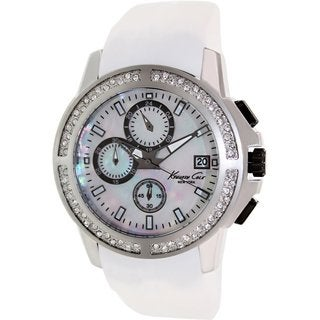 Kenneth Cole Men's KC2798 White Silicone Quartz Watch with Mother-Of-Pearl Dial