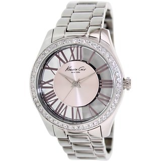 Kenneth Cole Women's KC4982 Silvertone Stainless Steel Quartz Watch with Pink Dial